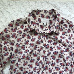 J Crew The Perfect Button Down Shirt
